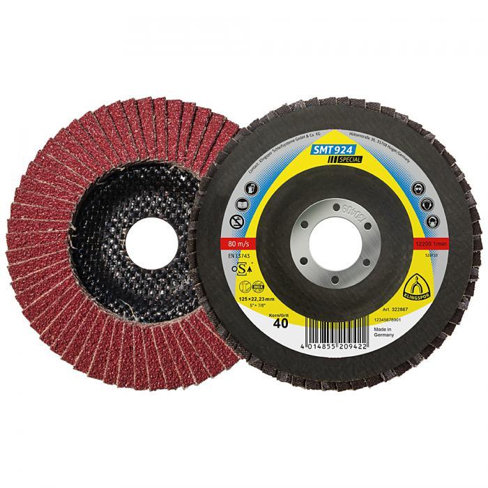 Schleifmopteller Keramik SMT 924 Special - Durchmesser 115 bis 125 mm - Bohrung 22,23 mm