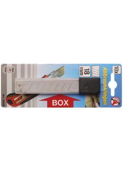Ersatzklingen - für Cuttermesser - Breite 18 mm - 10 Stück