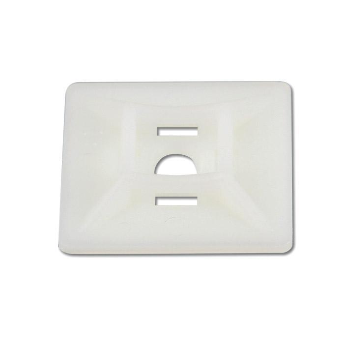 Klebesockel für Kabelbinder - Maße (L x B) 12 bis 28 x 12 bis 28 mm - Material Polyamid 6.6