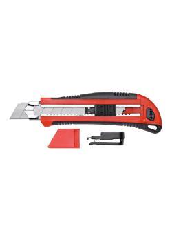 GEDORE red Cuttermesser - mit 5 Klingen - mit Gürtelclip