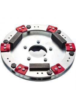 """Roll PKD-Fräser """"PRO3"""" - Durchmesser 400 mm - mit 6 x 2 PKD-Schneiden"""