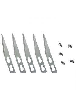 Lames d'ébarbage pour plastiques - 15 pièces - longueur de la lame 36 mm