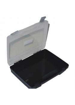 Koffer - Polypropylen - leer - schwarz-transparent