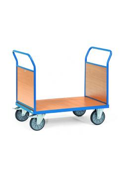 Double-Platform trolley - with end panels made of wood - up to 600 kg