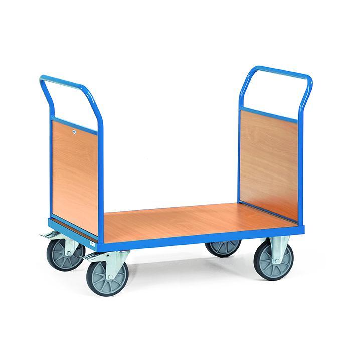 Doppio-Platform trolley - con pannelli terminali in legno - fino a 600 kg