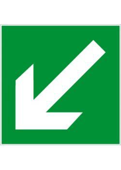 """Nödutgångsskylt """"riktningspil"""" - sidolängd 5-40 cm"""