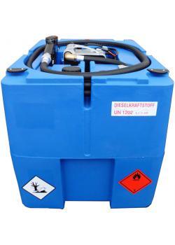 Mobil Bränletank - 210 liter - för diesel - 40 l/min - Spänning 24V DC - utan lock