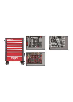 GEDORE red Werkzeugsatz im Werkstattwagen WINGMAN - Stahlblech -  129-teilig