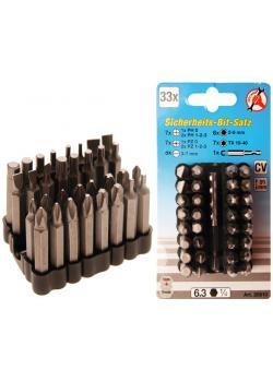 Bit-Satz - für Sicherungsschrauben - Länge 50 mm - 33-teilig