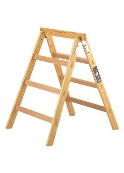 Holz-Stehleiter + Arbeitsbock HAB 150  - Sprossen 2 x 3 - Höhe 0,95 m