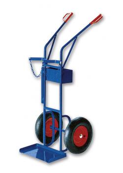Welder truck - steel - capacity 150kg - height 1500mm - for 2 bottles