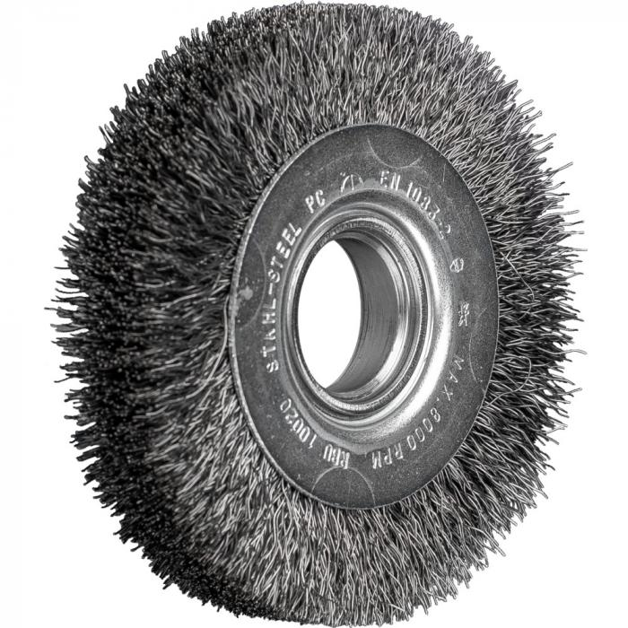 PFERD Rundbürste RBU - ungezopft - breit - universeller Einsatz - Stahldraht - Außen-ø 100 bis 200 mm - Bohrungs-ø 30,0 und 50,8 mm - Besatzmaterial-ø 0,30 mm