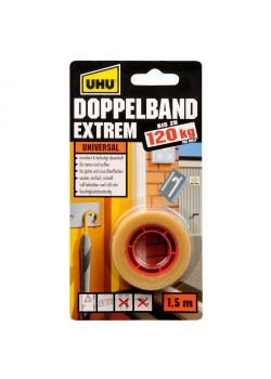 UHU Doppelband Extrem - Rolle 1,5 m x 19 mm, Infokarte