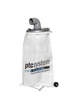 PTC-Auffangbehälter ptcsystem® - Entsorgung von Projektilen - stabiles Gestell mit Rollen und Gewebesack