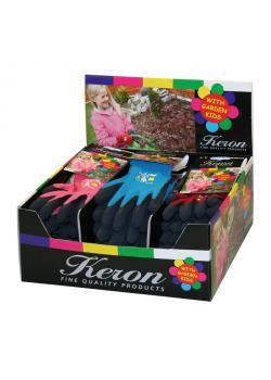 Barnhandskar display Barn - paket med 18 par - pris per paket - 6 par röd, mossgrön, marinblå