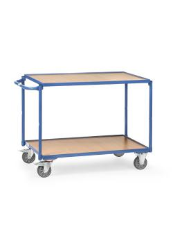 Table trolley - horizontal handle - - 2 floors of wood 300 kg
