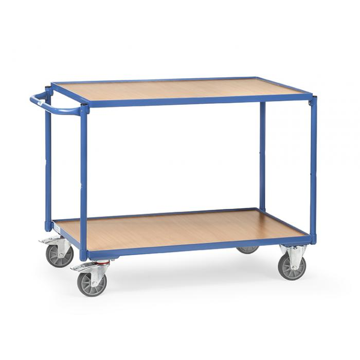 Tableau trolley - poignée horizontale - - 2 étages de bois 300 kg