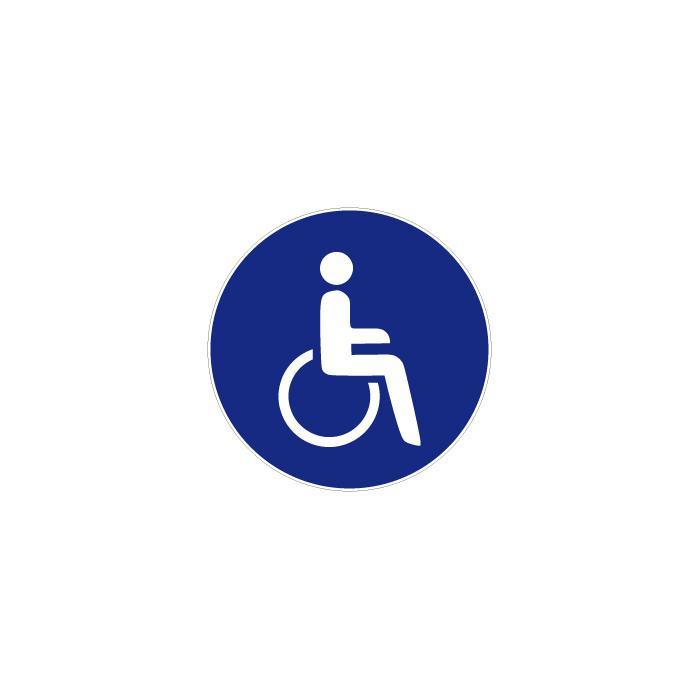 """Gebotszeichen """"Für Rollstuhlfahrer"""" - Durchmesser 5-40 cm"""
