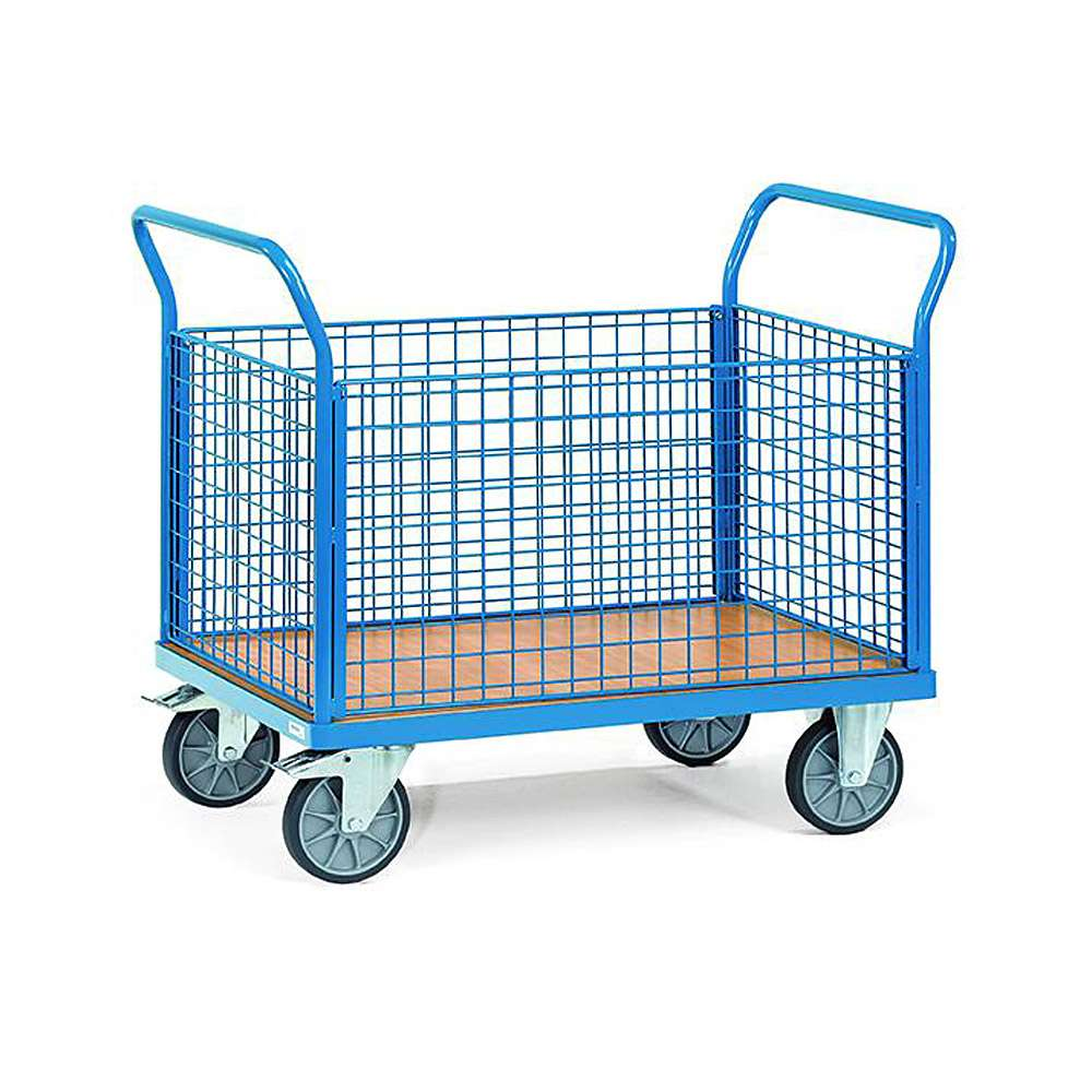 Four trolley - with 4 walls made of wire mesh