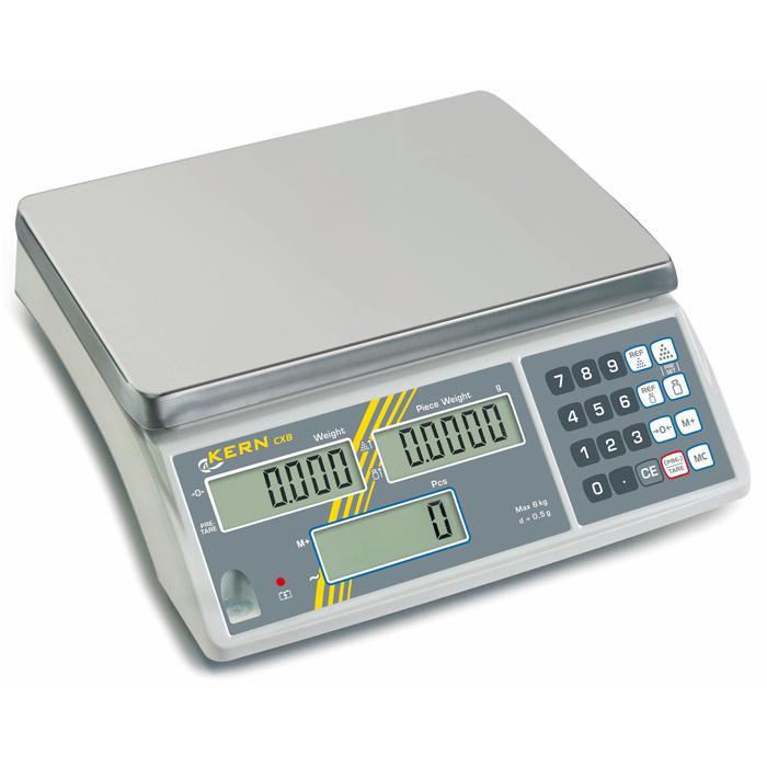 Waage - max. Wägebereich 6 bis 30 kg - Zählauflösung 30.000 Pkt. - mit Eichung (separat zu bestellen)