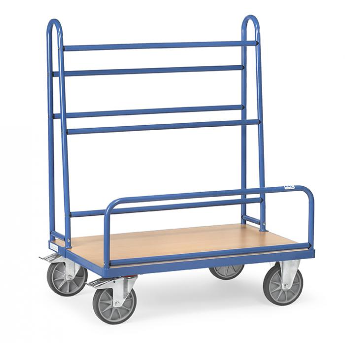 Plate trolley - with fixed tubular supports - 600 kg