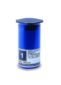 Etui til kontrolvægt E 2 - enkelt vægt à 1 eller 2 g - plast, polstret