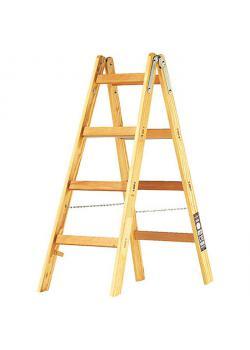 Stehleiter - aus Holz - für Maler - 4-10 Sprossen