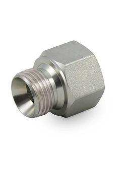 """Gerader Adapter - Stahl verchromt - Außengewinde G 1/4"""" - Innengewinde G 3/8"""""""