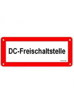 """Hinweisschild für Photovoltaik-Anlagen - """"DC-Freischaltstelle"""""""
