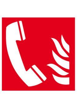 """Brandskylt """"nödtelefon"""" - sidolängd 5-40 cm"""