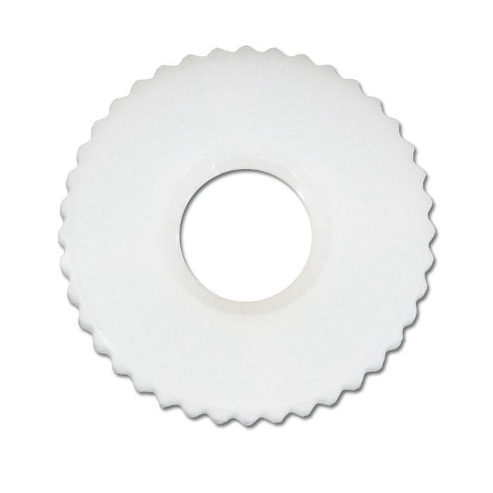 Rändelmutter - ähnlich DIN 467 - M 4 bis M 8  (Ø x H) 16 x 6 mm Typ 2 - Nylon natur / Polyamid natur