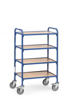 Trolley - 4 shelves made of wood - length 630 mm