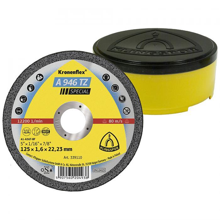 Trennscheibe A 946 TZ - Durchmesser 100 bis 230 mm - Breite 1,6 bis 1,9 mm