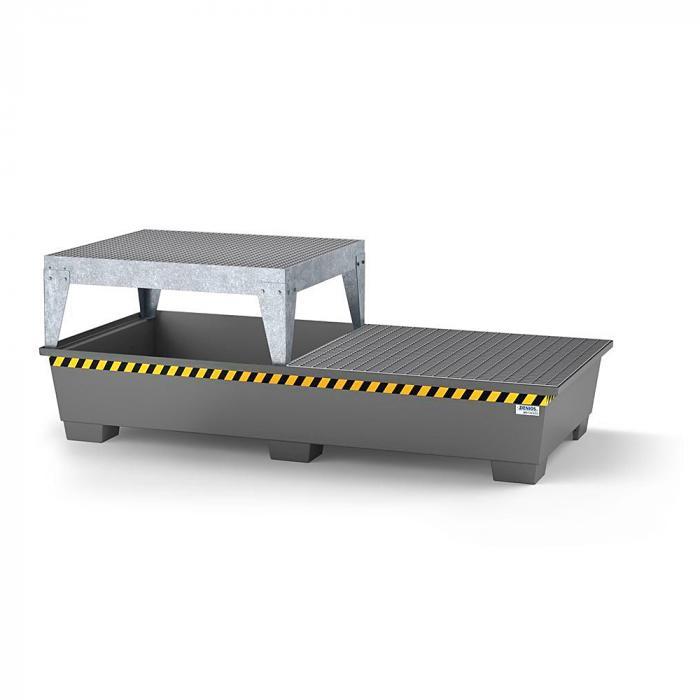 Auffangwanne pro-line - Stahl lackiert oder verzinkt - für 2 IBC - Abfüllbock und Gitterrost