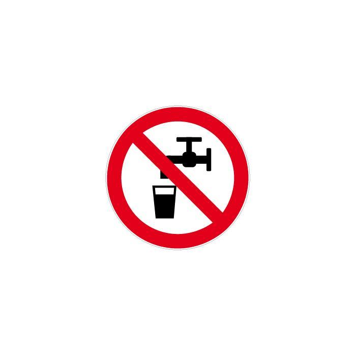 """Verbotszeichen   """"Kein Trinkwasser""""  Durchmesser 5 bis 40 cm"""