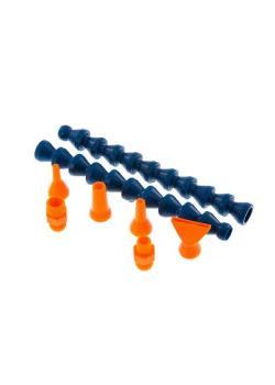 """Kühlmittel-Gelenkschlauchsystem Cool-Line Set 1/4"""" - 2 Gelenkschlauchstücke á 140 mm (2 x 10 Module) - 2 Gewindeanschlüsse R 1/8 und R 1/4"""""""