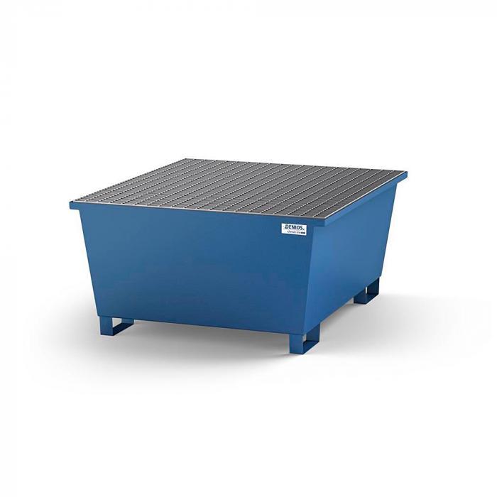 Auffangwanne classic-line - Stahl lackiert - m. Abfüllbereich für 1 IBC - Gitterrost oder Abfüllbock