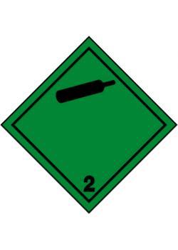 """Farligt gods skylt - """"icke giftig, icke brandfarlig gas 2.2"""""""
