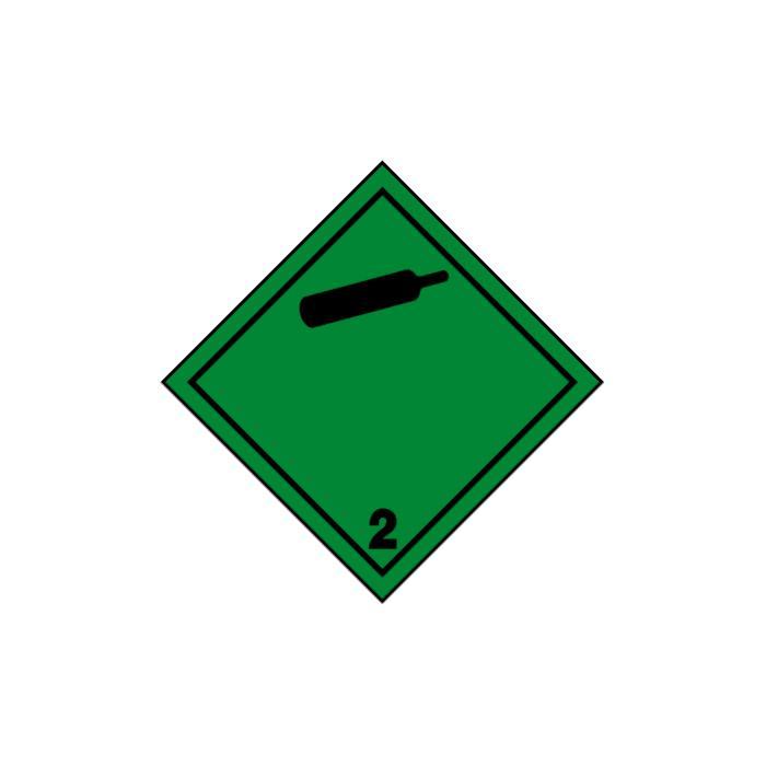 """Gefahrgutzeichen """"Nicht entzündbare, nicht giftige Gase 2.2"""" - Seitenlänge 5-40"""