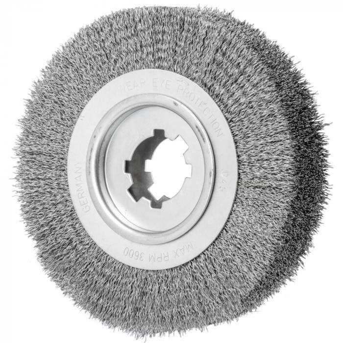 PFERD Rundbürste RBU - ungezopft - Stahldraht - Außen-ø 250 mm - Besatzbreite 100 mm - Bohrungs-ø 50,8 mm - Besatzmaterial-ø 0,20 bis 0,50 mm