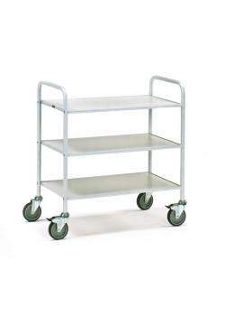 Office Cart - 150 kg - with 3 floors and open side walls
