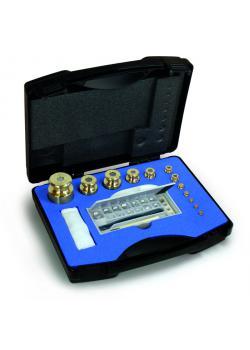 Gewichtssatz M 1 - 15 Prüfgewichte - 1 mg bis 50 g - Messing, Aluminium, Neusilber