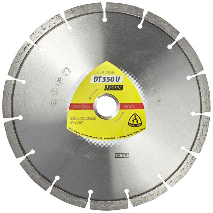 Diamanttrennscheibe DT 350 U - Durchmesser 115 bis 230 mm - Bohrung 22,23 mm - lasergeschweißt