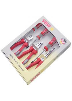 Jeu de pinces  VDE - branches composites - longueur de 160 à 200 mm - 6 pièces -