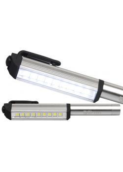 LED-Stift - mit 9 LEDs - im Aluminium-Gehäuse - Maße 158 x 22 x 25 mm