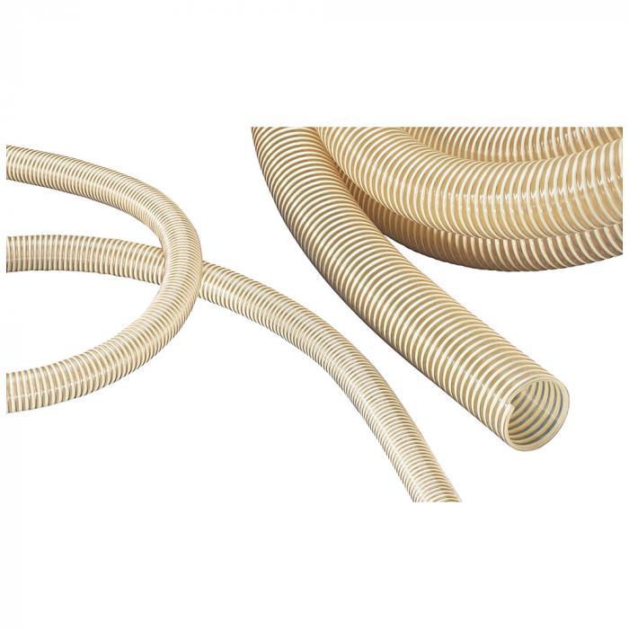 NORPLAST® PUR-C 385 AS - antiestatisch - leicht - Erdungslitze - Innen-Ø 25 bis 150-152 mm - Länge 10 und 20 m