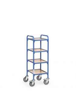 Trolley - 4 shelves made of wood - length 320 mm
