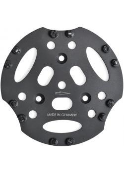 """PKD-Scheibe """"PRO"""" - Durchmesser 300 mm - Eingriffswinkel 12 ° - mit 6 PKD-Segmenten und 6 Stützsegmenten"""