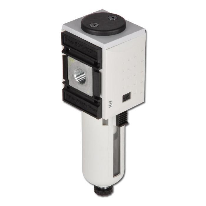"""Filtre pour air comprimé FUTURA 0,3 µm - 16 bar - jusqu'à 650 l/min - purge manuelle - filetages G 1/4"""" - 1/2"""""""