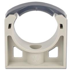Rohrhalter - Kunststoff PP - mit Befestigungsloch - Rohr-Ø 20 bis 110 mm - Höhe 22 bis 85 mm - Preis per Stück
